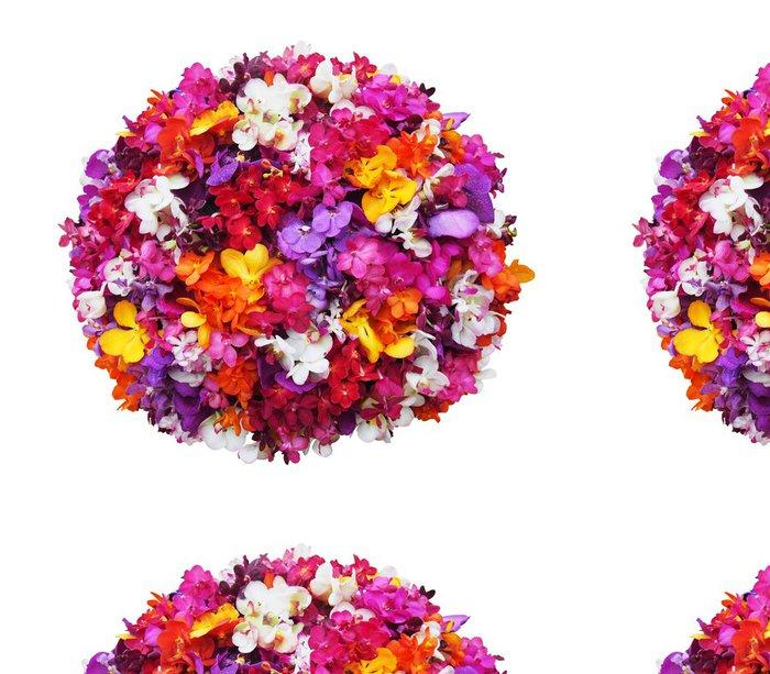 Tapeta Pixerstick Orchidej květina míč na bílém pozadí - s ořezové cesty - Květiny