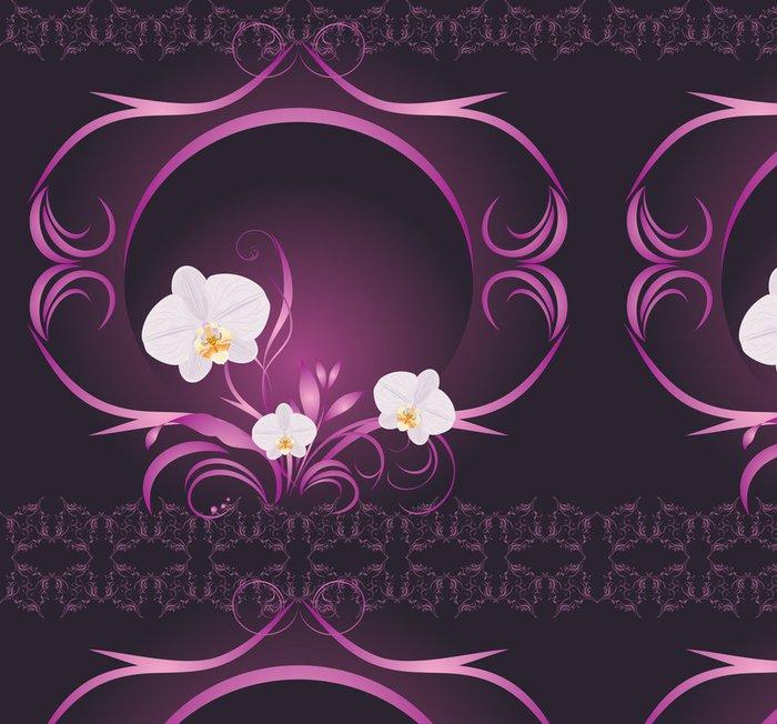 Tapeta Pixerstick Orchideje v dekorativním rámu - Národní svátky