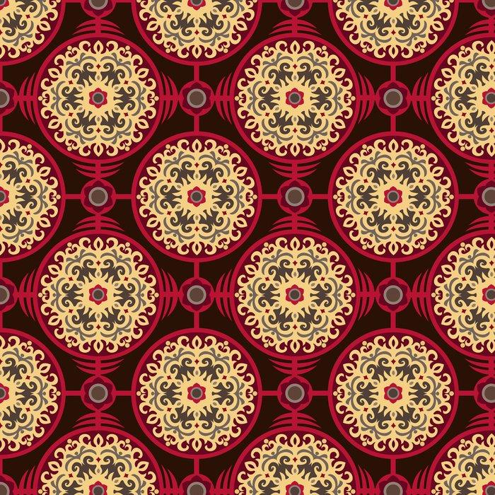 Tapeta Pixerstick Orientální Authentic Round ornament bezešvé vzor - Pozadí