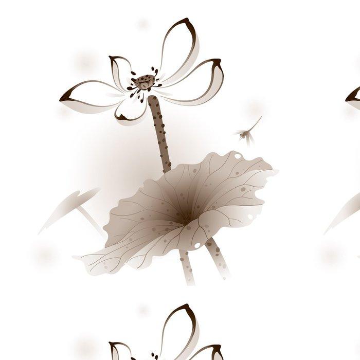Tapeta Pixerstick Orientální styl Lotus - Květiny