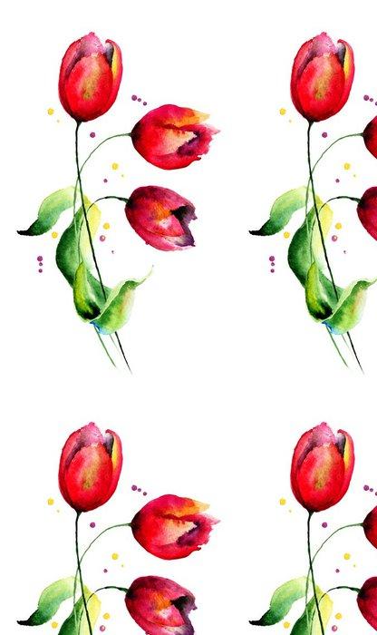 Tapeta Pixerstick Originální Tulipány květiny - Květiny