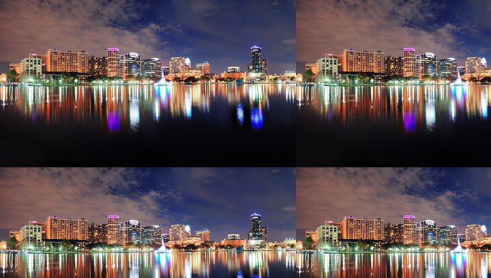 Tapeta Pixerstick Orlando noc panorama - Amerika