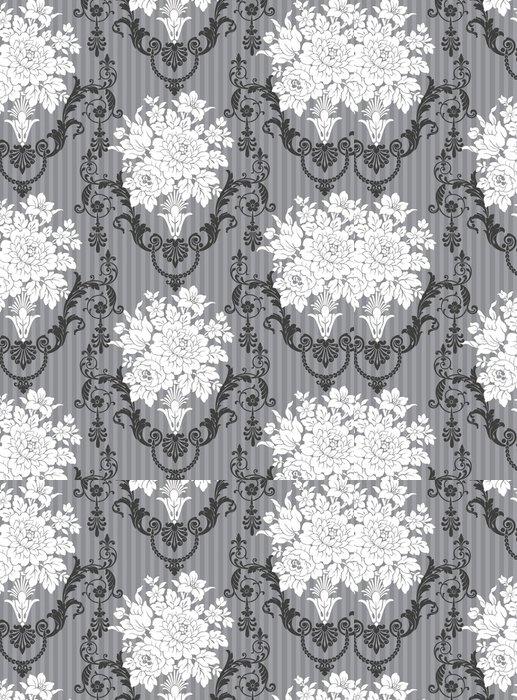 Tapeta Pixerstick Ornemental gris kytice květiny - Slavnosti