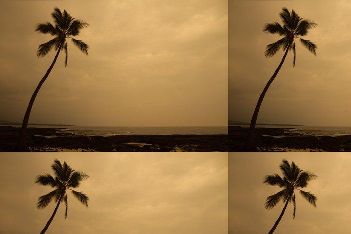 Vinylová Tapeta Osamělý palma při západu slunce - Prázdniny