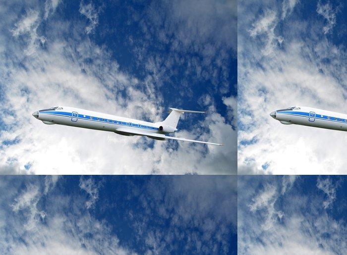 Tapeta Pixerstick Osobní letadlo na obloze - Vzduch