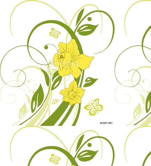 Tapeta Pixerstick Ostern, Osterglocken, Narzissen, Blume, Blüte, květinovými - Květiny