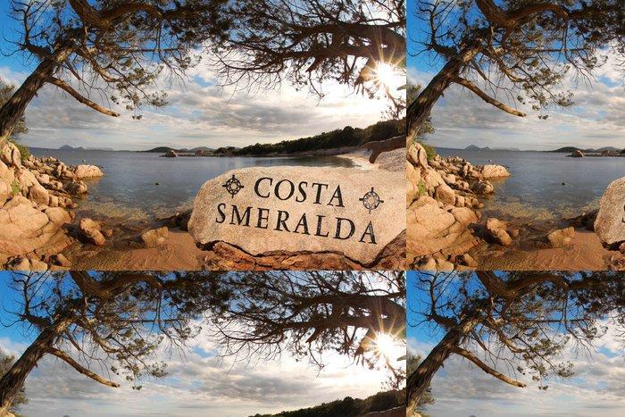 Tapeta Pixerstick Ostrov Sardinie s azurovém pobřeží v Itálii - Roční období