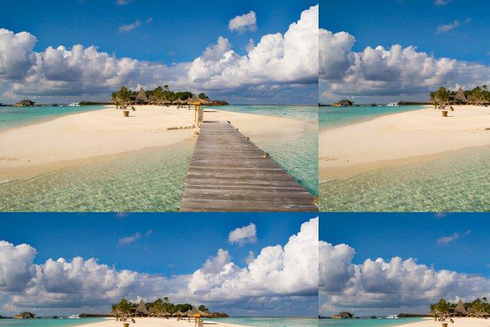 Tapeta Pixerstick Ostrov z Maledivy - Ostrovy