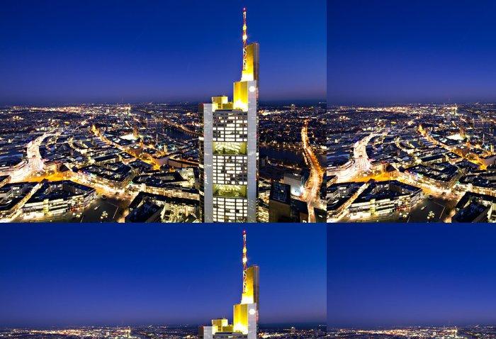 Tapeta Pixerstick Osvětlený panoráma Frankfurtu - Evropa