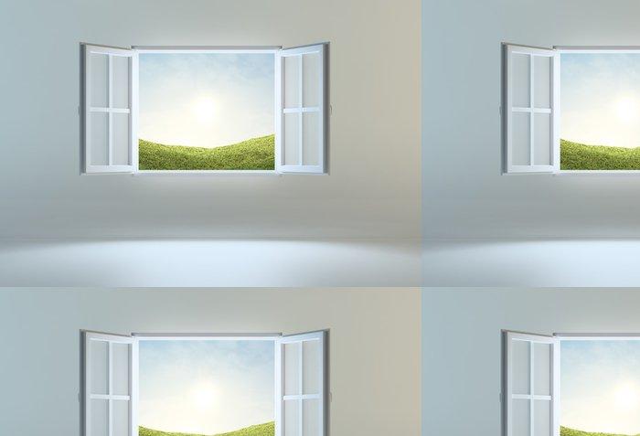 Tapeta Pixerstick Otevřít okno vedoucí na jiné místo - Nálepka na stěny