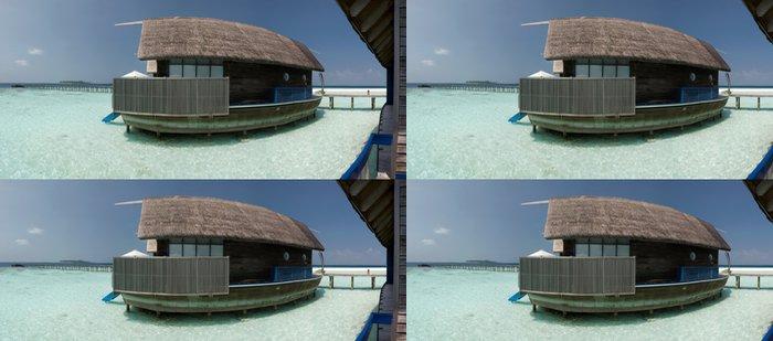 Tapeta Pixerstick Overwater bungalov na laguně - Prázdniny