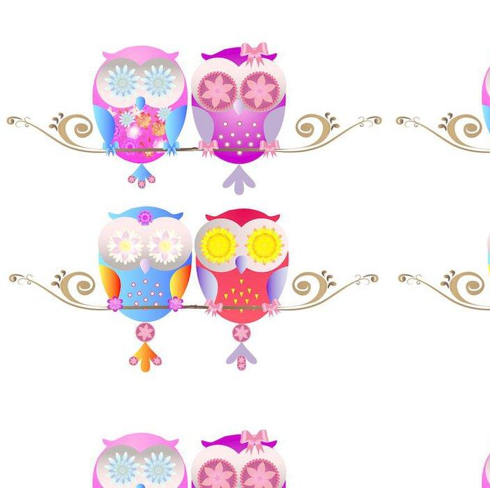 Tapeta Pixerstick Owl Vector - Pozadí