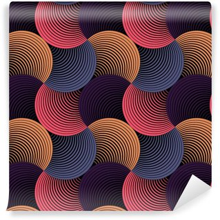 Vinylová Tapeta Ozdobený Geometrické Petals Grid, abstraktní vektorové bezešvé vzor