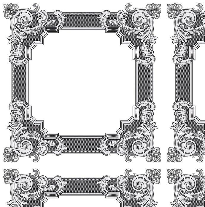 Tapeta Pixerstick Ozdobná rám vektor - Značky a symboly