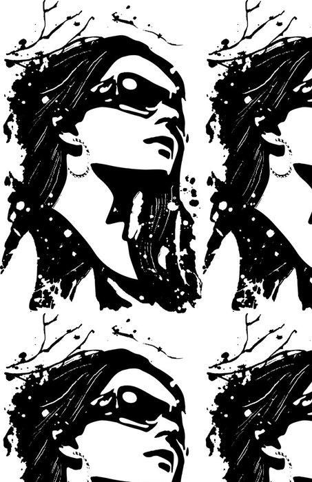 Tapeta Pixerstick Ozdobný žena ilustrace - Témata