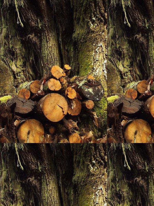Tapeta Pixerstick Padající kmen stromu - Ekologie