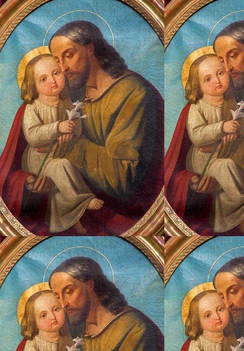 Tapeta Pixerstick Padua - Světec Josef s dítětem - baziliky del Carmine - Evropa