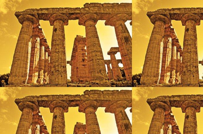 Tapeta Pixerstick Paestum, sito archeologické e Templi - Evropa