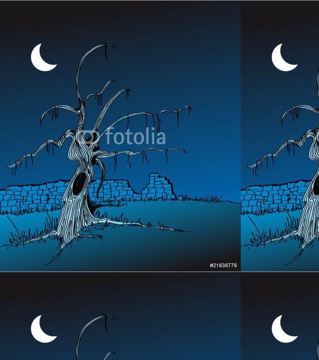 Tapeta Pixerstick Paisaje con nocturno árbol seco - Roční období