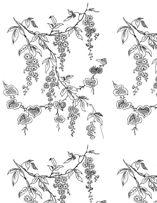 Tapeta Pixerstick Paisley květinový vzor - Abstraktní