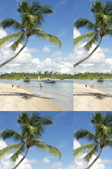 Vinylová Tapeta Palm Tree Bahia Nordeste Brazilian Beach - Amerika