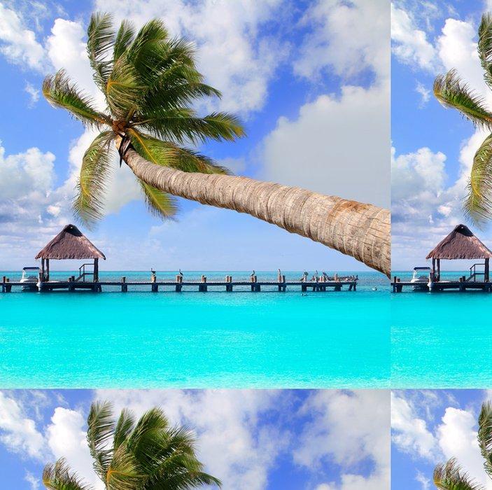 Tapeta Pixerstick Palm tree in tropical dokonalé pláži - Amerika