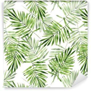Vinylová Tapeta Palmového listí. Akvarel bezešvé vzor 2