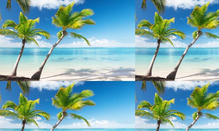 Vinylová Tapeta Palmy a moře - Voda