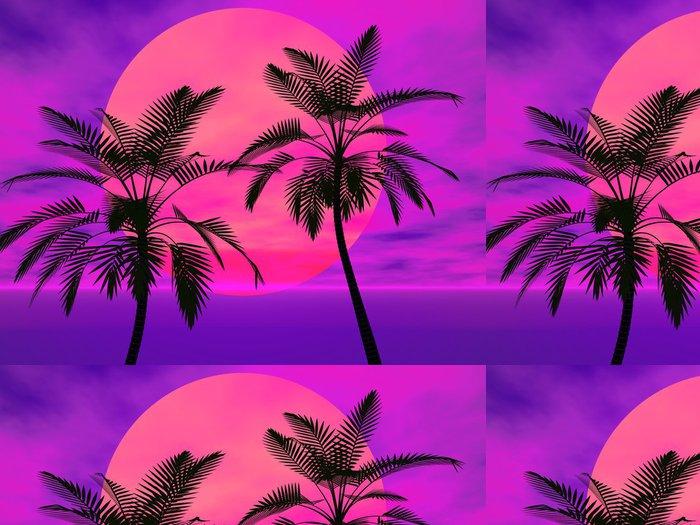 Vinylová Tapeta Palmy na slunci - Voda