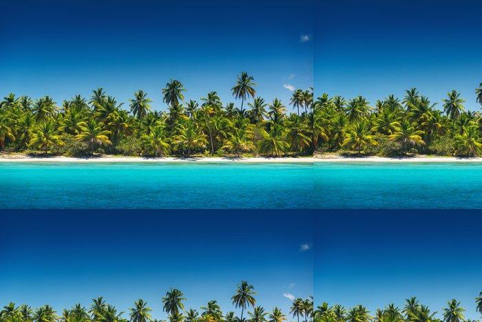 Tapeta Pixerstick Palmy na tropické pláži, ostrov Saona, Dominikánská r - Ostrovy