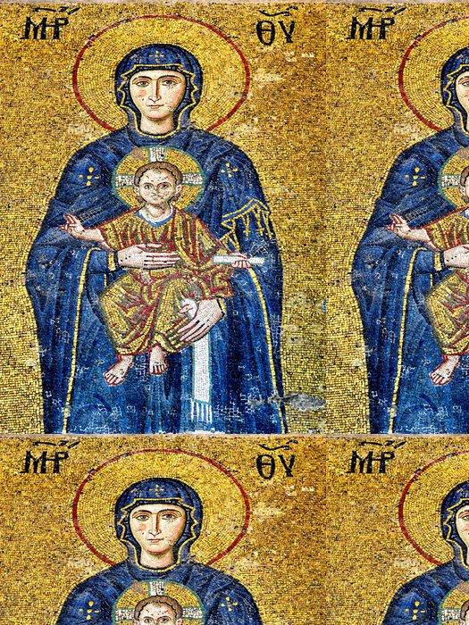 Tapeta Pixerstick Panna Marie držící Ježíškem. (Art mozaika Byzanc) - Témata