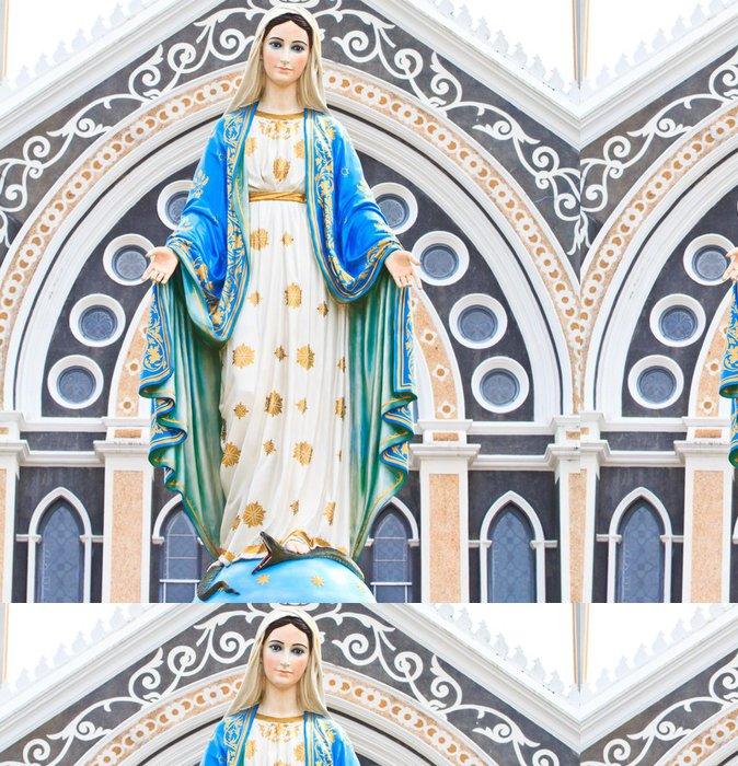 Tapeta Pixerstick Panna Marie socha v římskokatolickém kostele Thajska - Náboženství