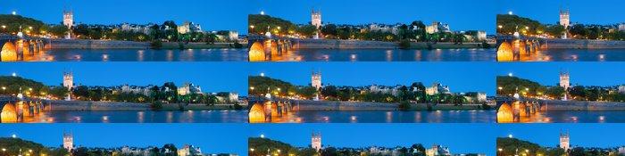 Tapeta Pixerstick Panorama Angers v noci - Evropa