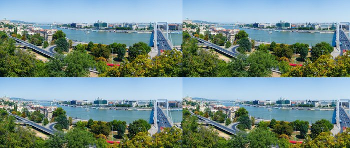 Tapeta Pixerstick Panorama Budapešti - Město