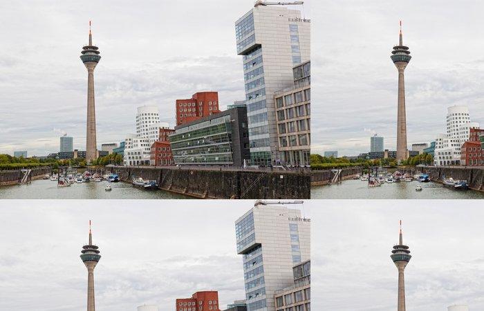 Tapeta Pixerstick Panorama centra města v Düsseldorfu, Německo - Město