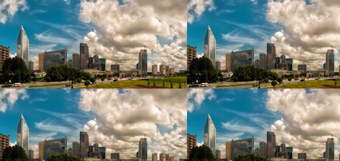 Tapeta Pixerstick Panorama Charlotte Towers - Město