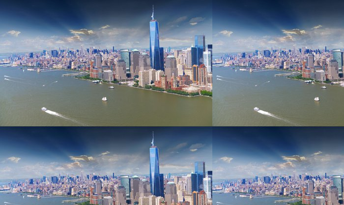 Vinylová Tapeta Panorama Manhattanu - Americká města