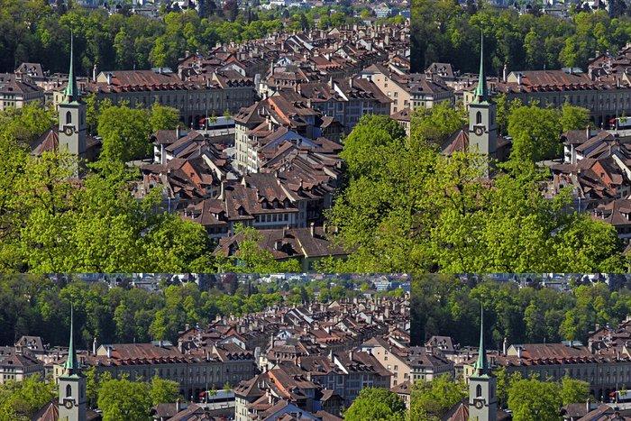 Tapeta Pixerstick Panoráma města Bern, Švýcarsko - Evropa