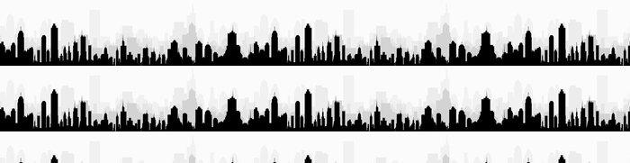 Tapeta Pixerstick Panoráma města panorama v Morning-vektoru - Město