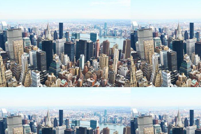 Tapeta Pixerstick Panoráma města pohled na Manhattan z Empire State Building - Americká města