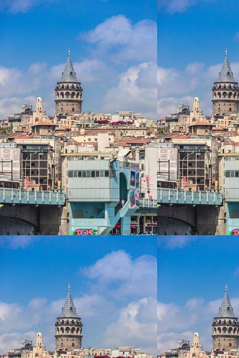 Tapeta Pixerstick Panoráma města s Věž Galata přes Zlatý roh v Istanbulu, Tu - Střední Východ