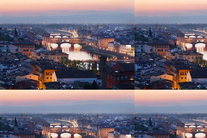 Tapeta Pixerstick Panorama noc Florence. Itálie - Evropa