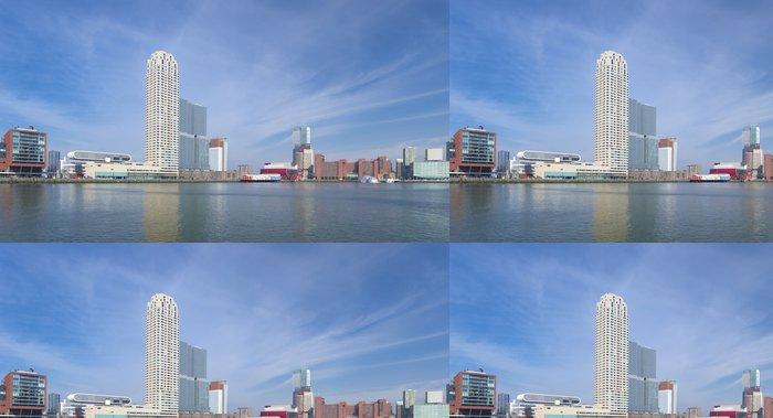 Tapeta Pixerstick Panorama Rotterdamu - Město