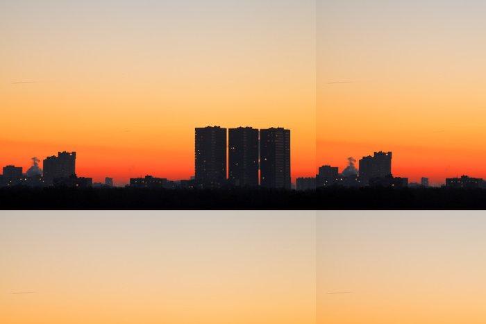Tapeta Pixerstick Panorama s ranní oranžové svítání - Nebe