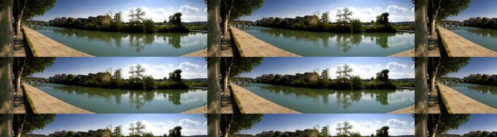 Tapeta Pixerstick Panorama Sommières - Život