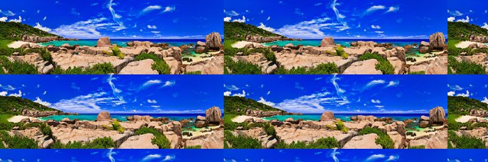 Tapeta Pixerstick Panorama tropické pláži na seychely - Prázdniny