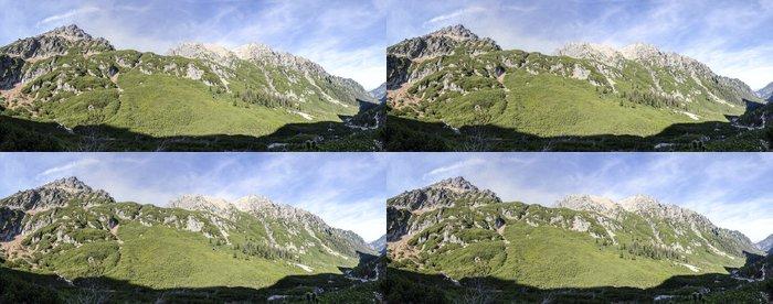 Tapeta Pixerstick Panorama - výstup na horu - Hory