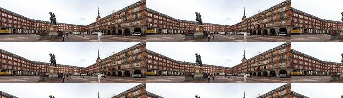 Tapeta Pixerstick Panorama z malebného náměstí Plaza Mayor v Madridu, ve Španělsku - Evropská města