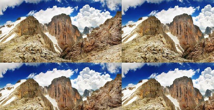 Tapeta Pixerstick Panorama z vrcholu vysokých hor - Evropa