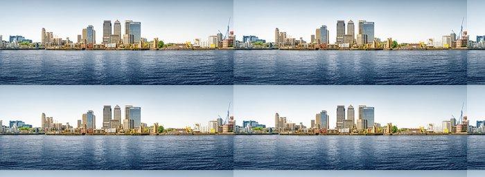 Tapeta Pixerstick Panoramatické fotografie z Canary Wharf pohled od Greenwiche. - Evropská města